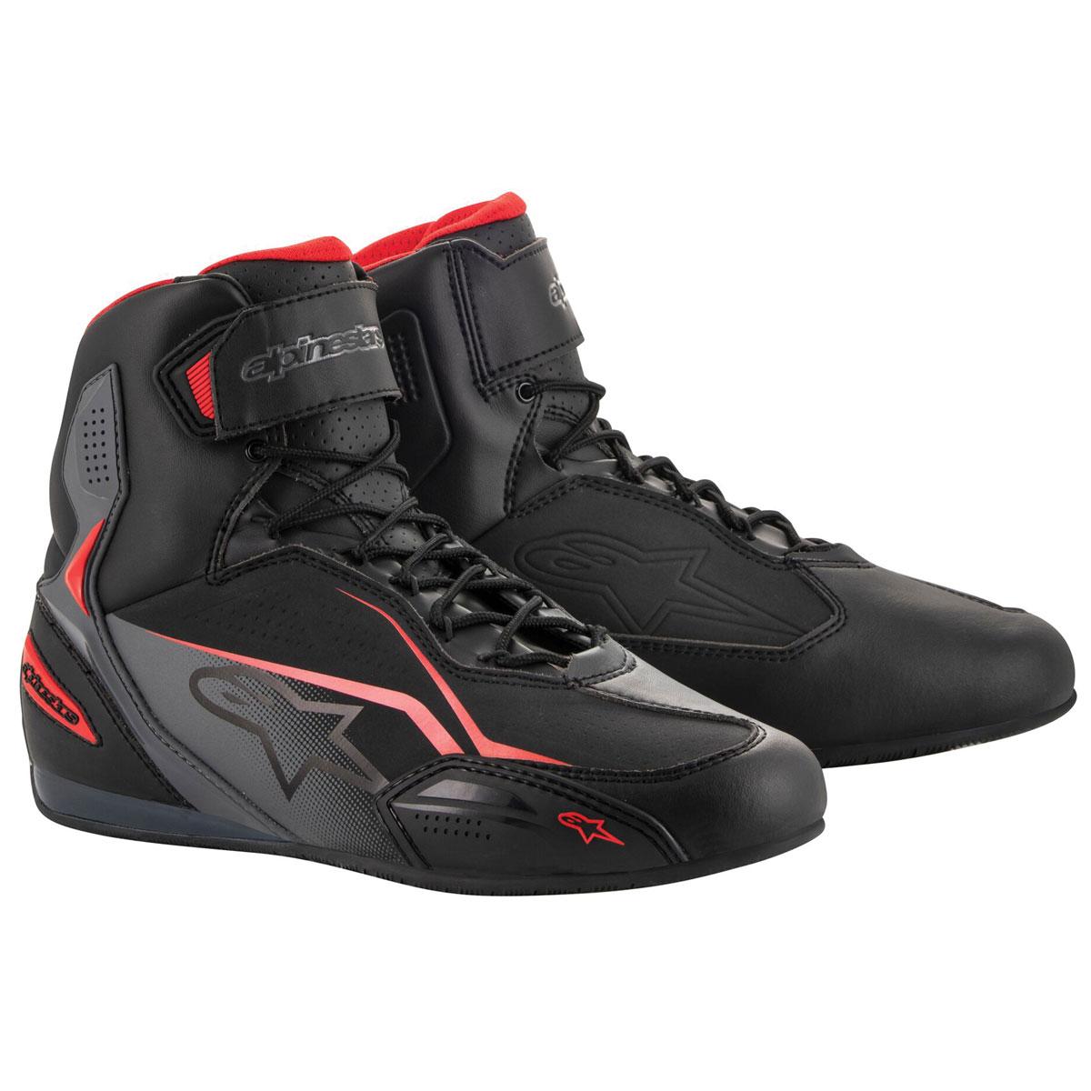 Alpinestars Men's Faster-3 Black/Gray/Red Boots