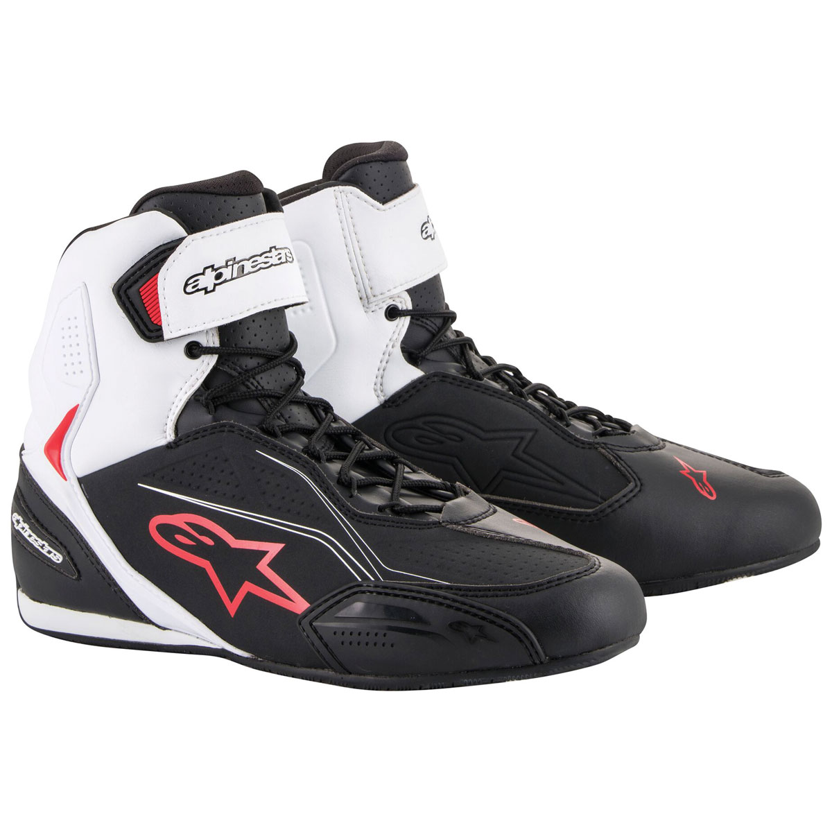 Alpinestars Men's Faster-3 Black/White/Red Shoes