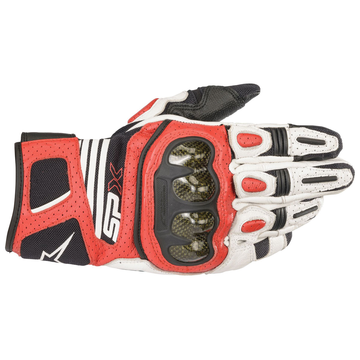 Alpinestars Men's SPX Air Carbon v2 Black/White/Red Fluo Gloves