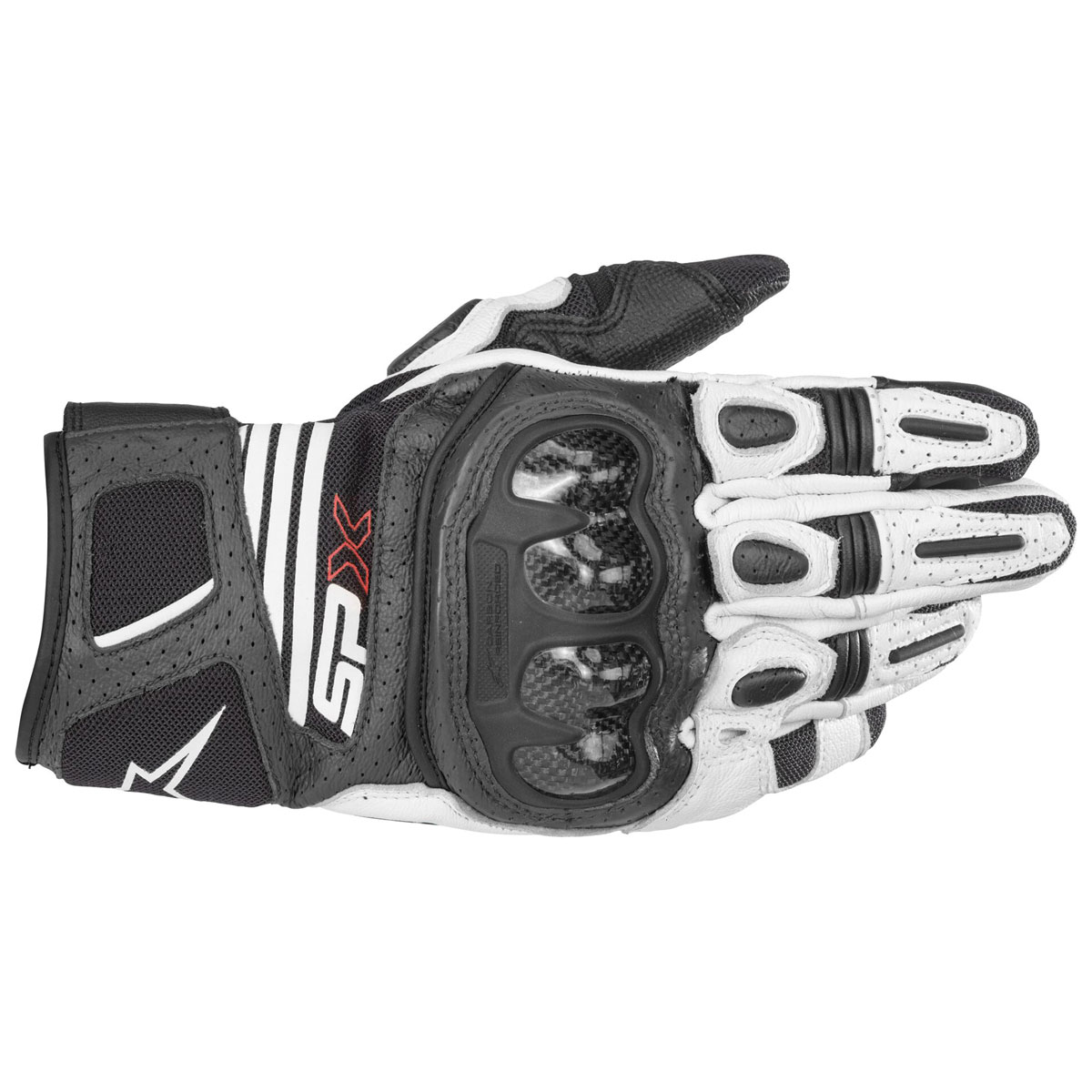 Alpinestars Men's SPX Air Carbon v2 Black/White Gloves