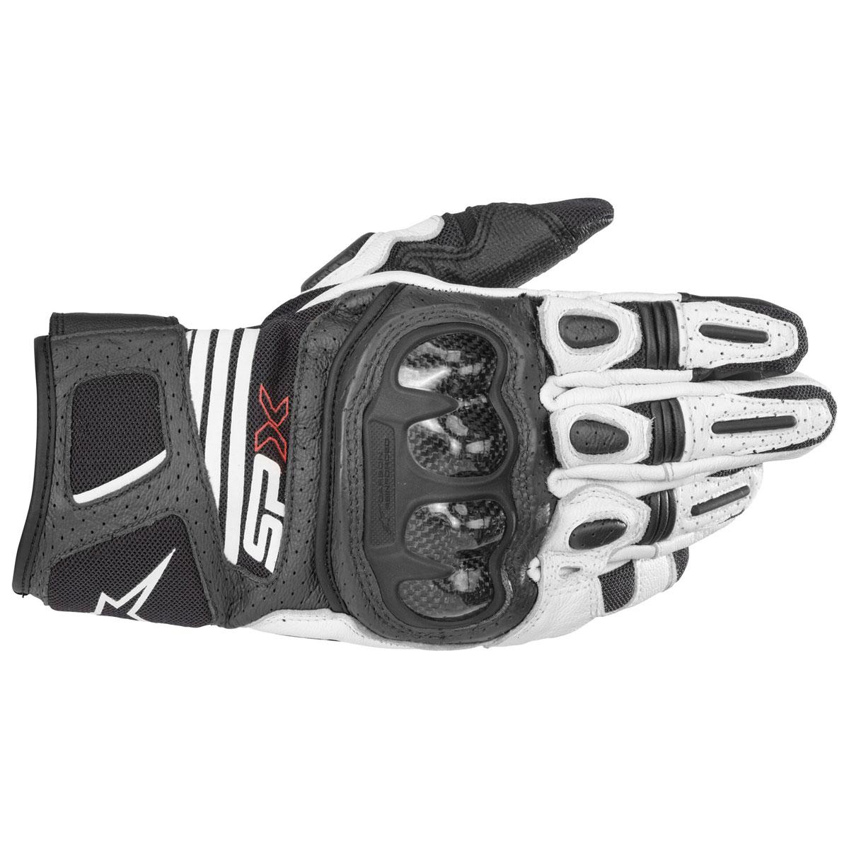 Alpinestars Men's SPX Air Carbon v2 Black/White Gloves