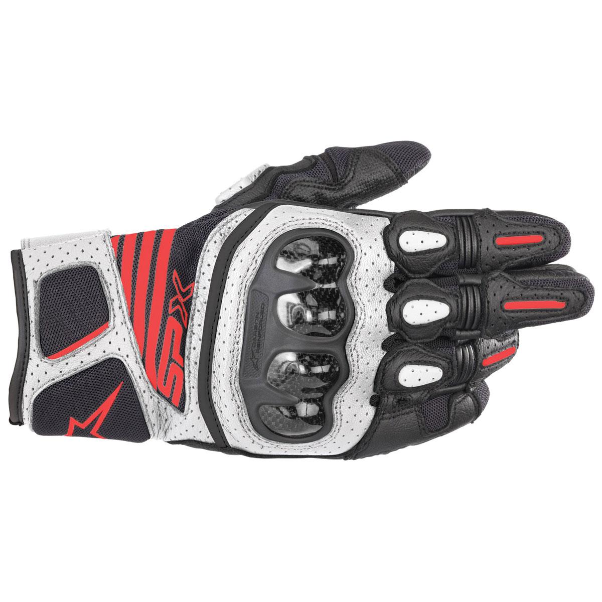 Alpinestars Men's SPX Air Carbon v2 Black/White/Bright Red Gloves