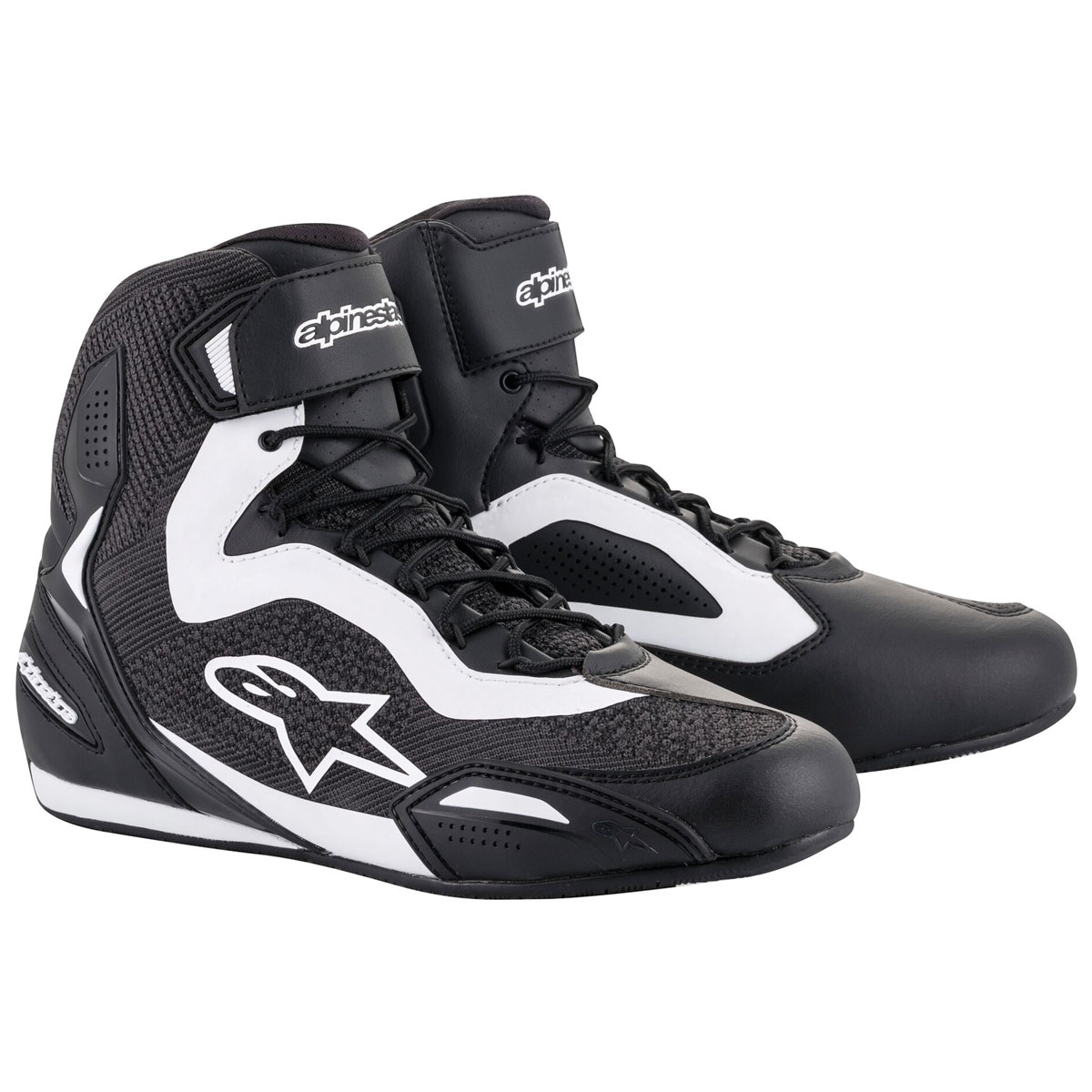 Alpinestars Men's Faster-3 Rideknit Black/White Shoes