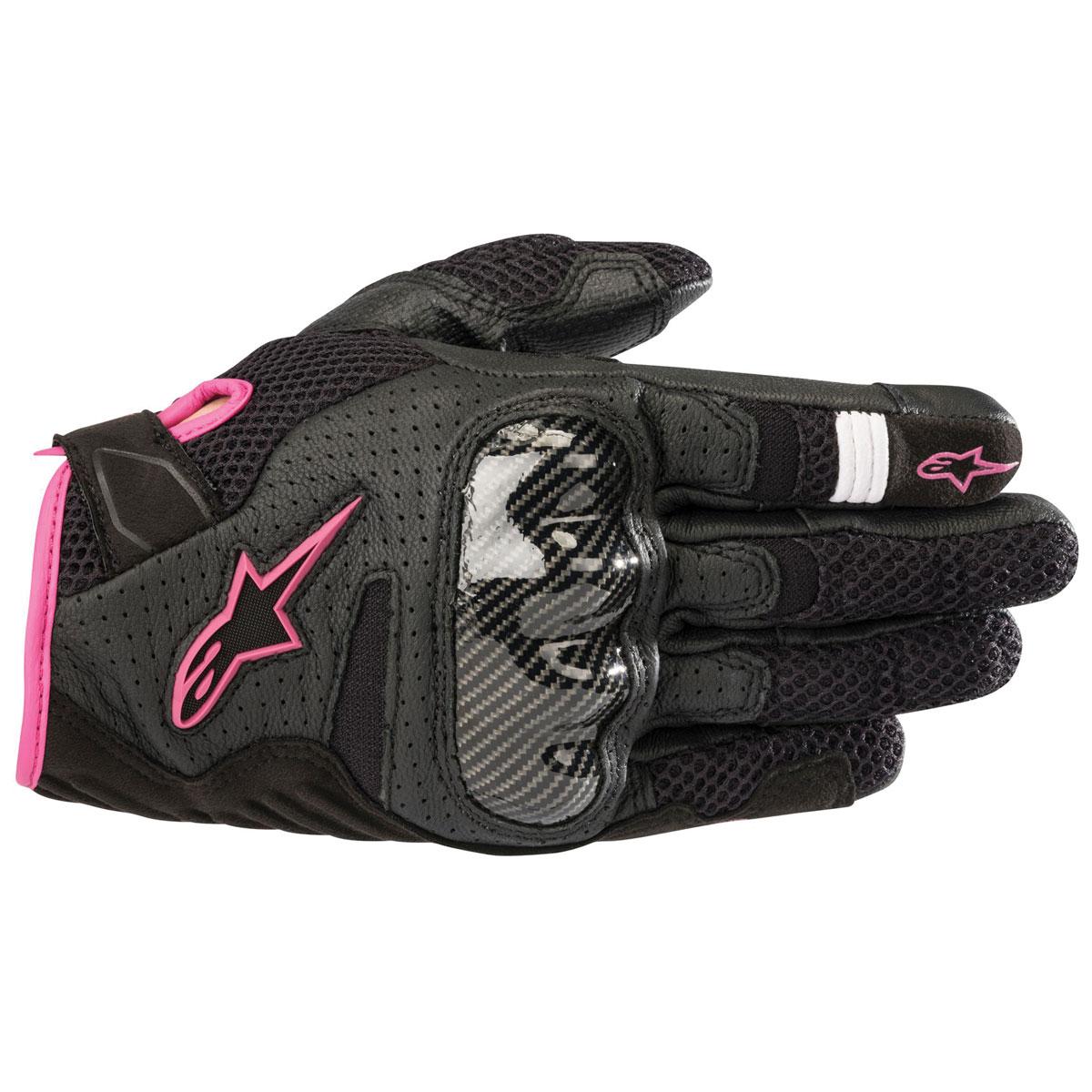 Alpinestars Women's Stella SMX-1 v2 Black/Fuchsia Gloves