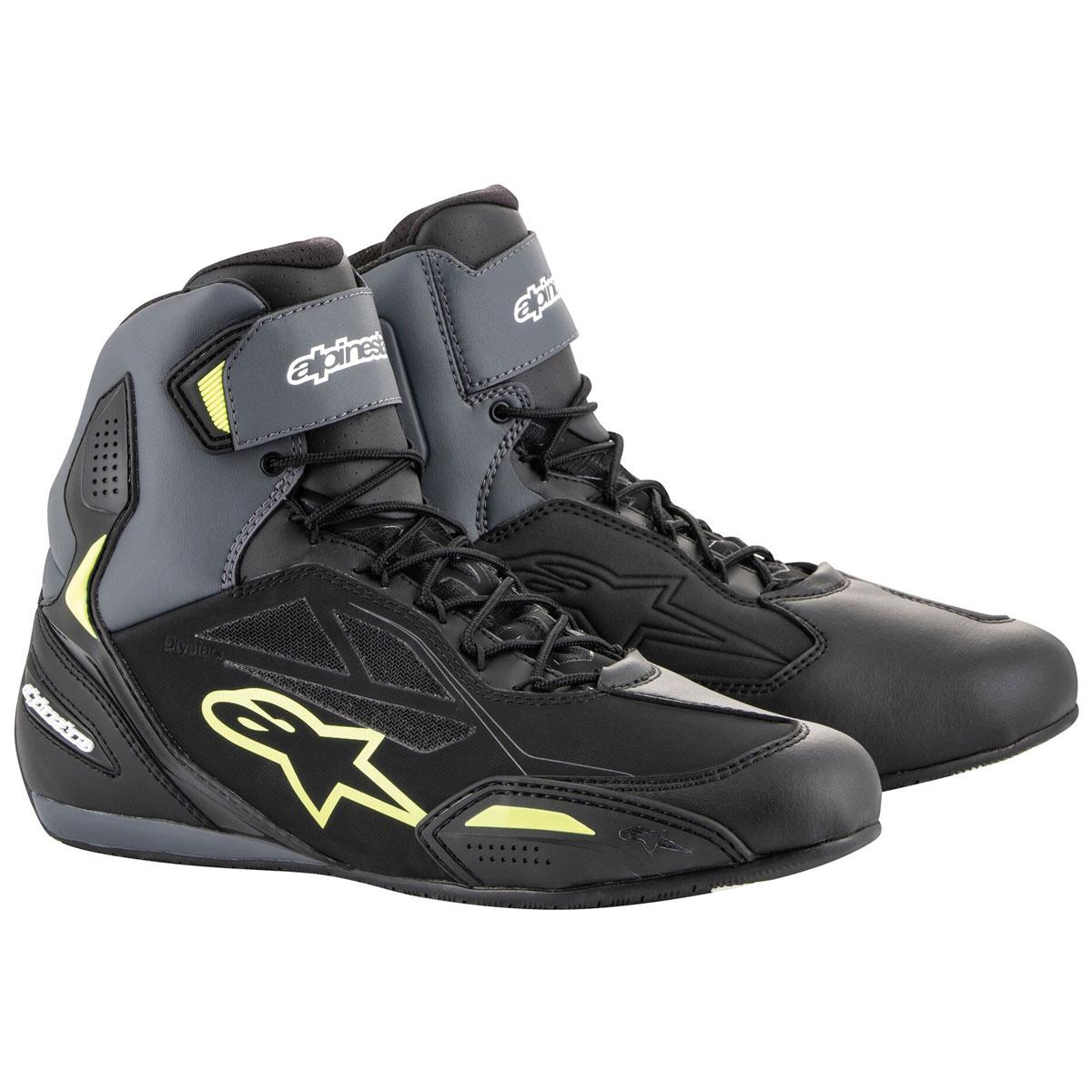Alpinestars Men's Faster-3 Drystar Black/Gray/Yellow Boots