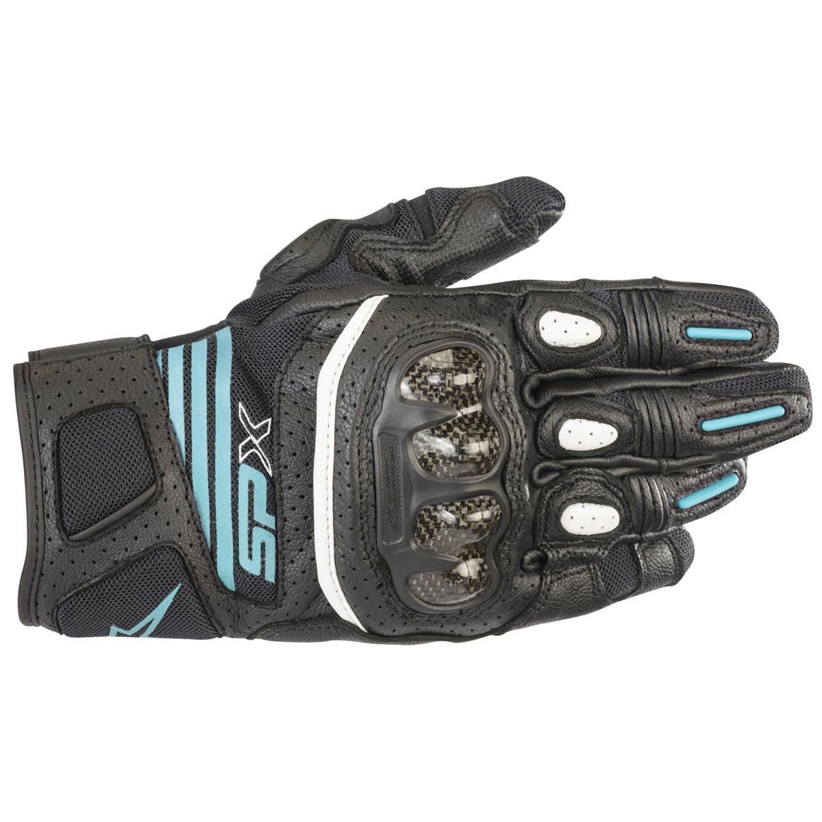 Alpinestars Women's Stella SPX Air Carbon v2 Black/Teal Gloves
