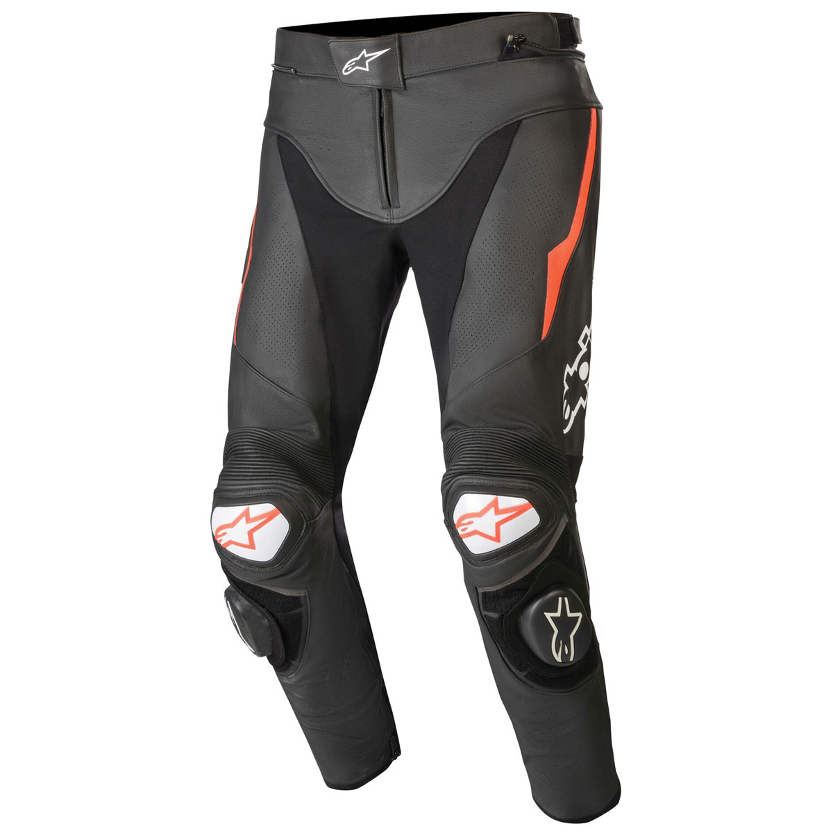 Alpinestars Men's Track v2 Black/Red Leather Pants