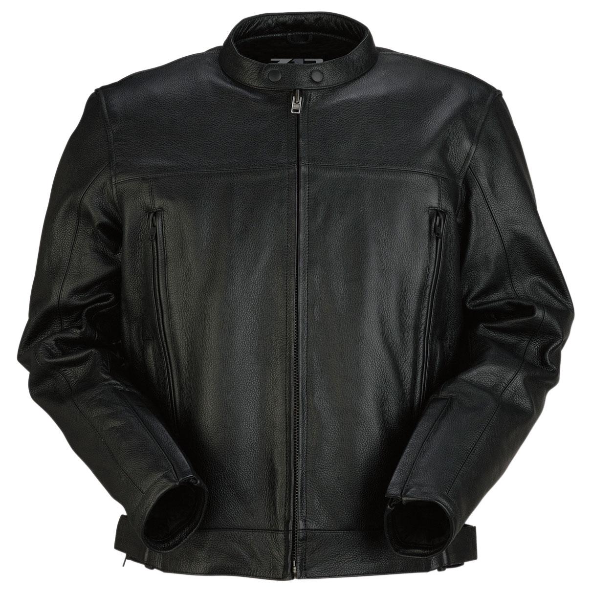 Z1R Men's Arsenal Black Leather Jacket