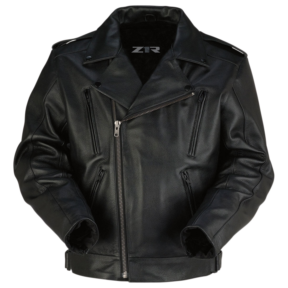 Z1R Men's Forge Black Leather Jacket