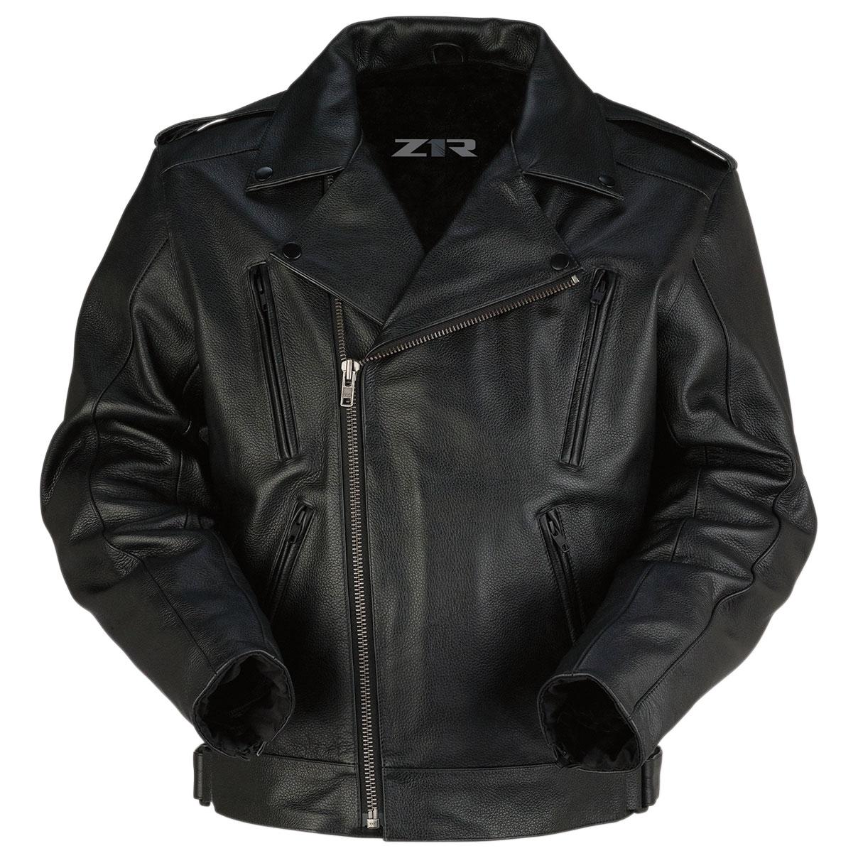 Z1R Men's Forge Black Leather Jacket