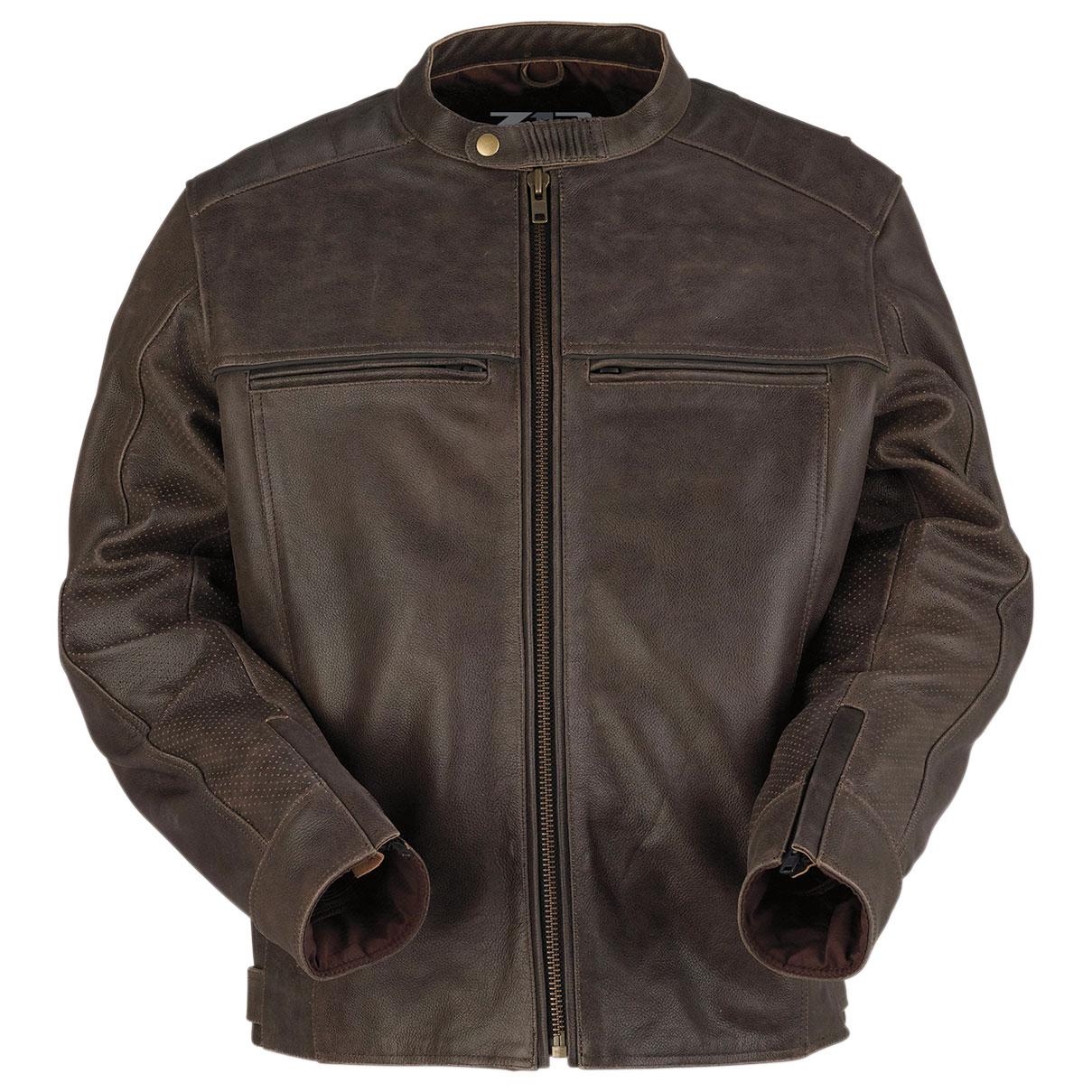 Z1R Men's Indiana Brown Leather Jacket