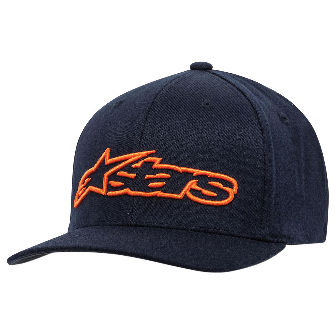 Alpinestars Men's Blaze Navy/Orange Flexfit Hat