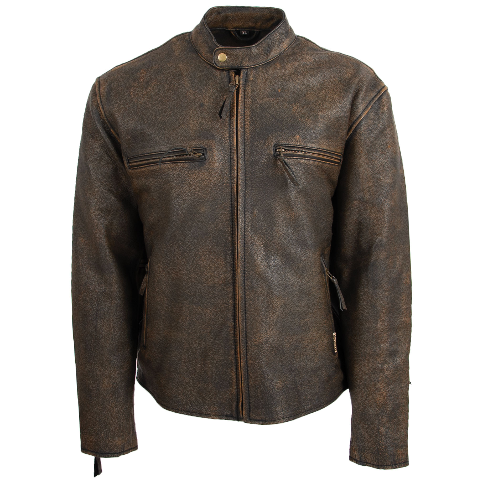 Milwaukee Motorcycle Clothing Co. Men's Heritage Brown Leather Jacket