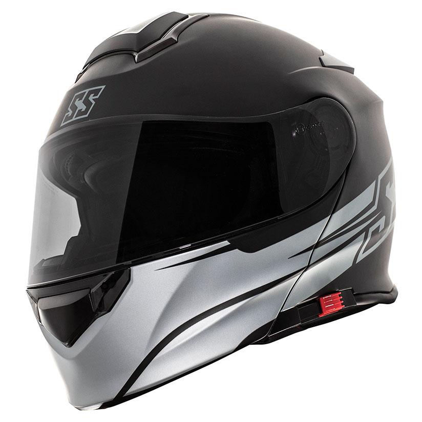 Speed and Strength SS4100 SS Logo Black Modular Helmet