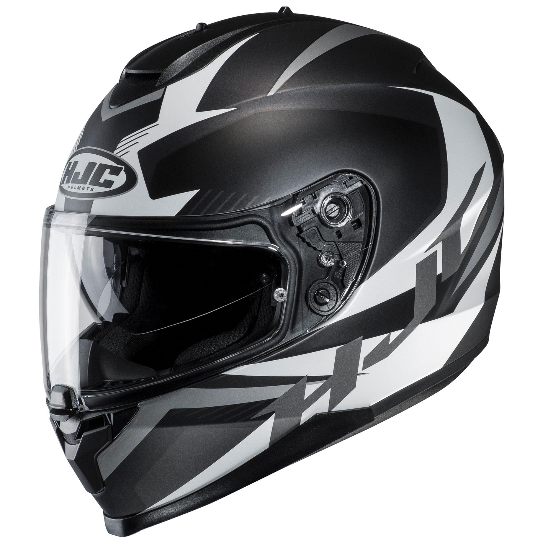 HJC C70 Troky Black/White/Silver Full Face Helmet