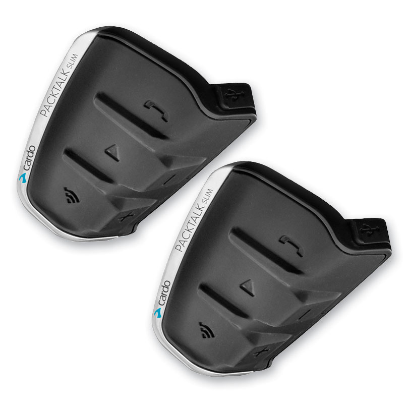 Cardo PackTalk Slim with JBL Audio Duo Bluetooth Communication System