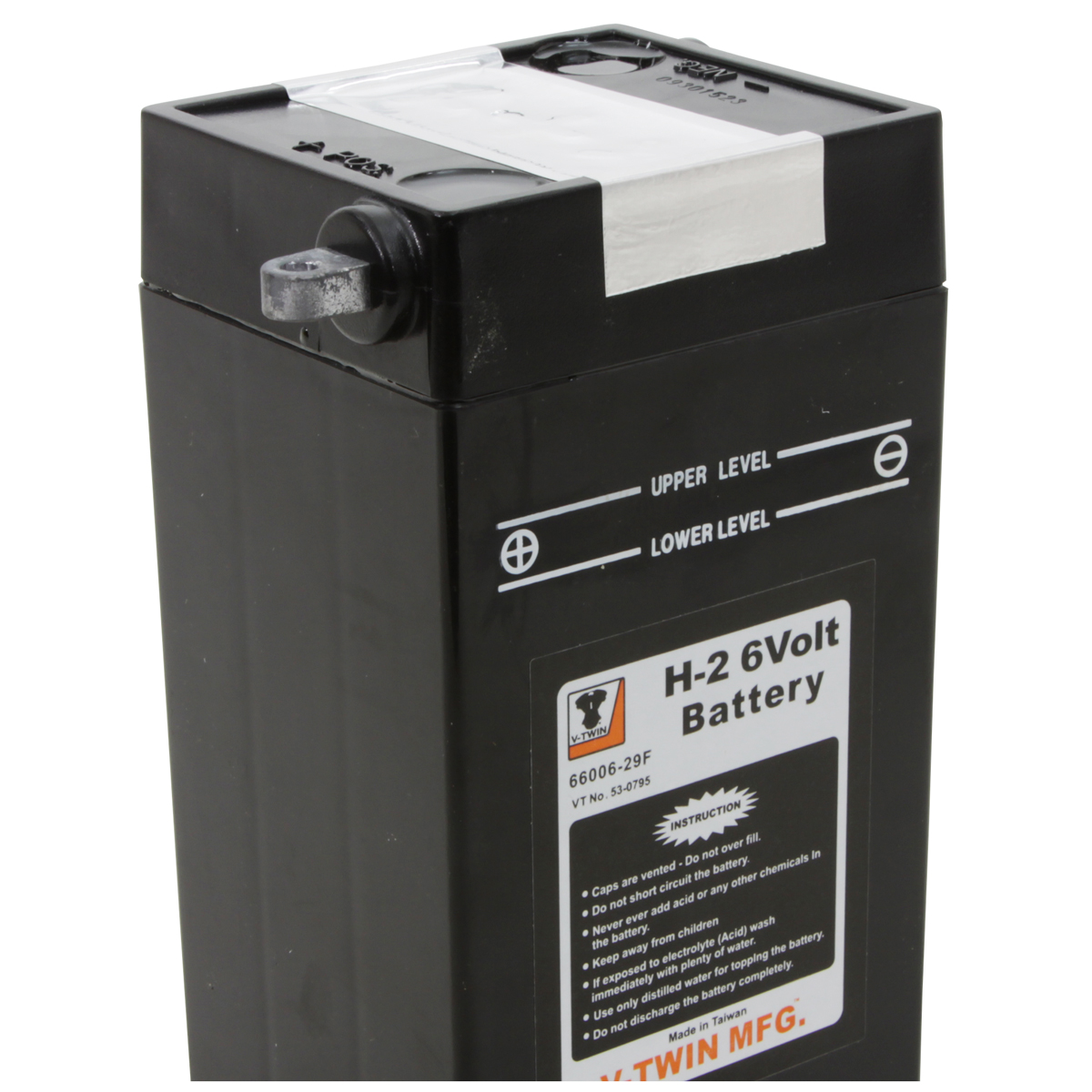 V-Twin Manufacturing Replica 6-Volt Battery Model H-2