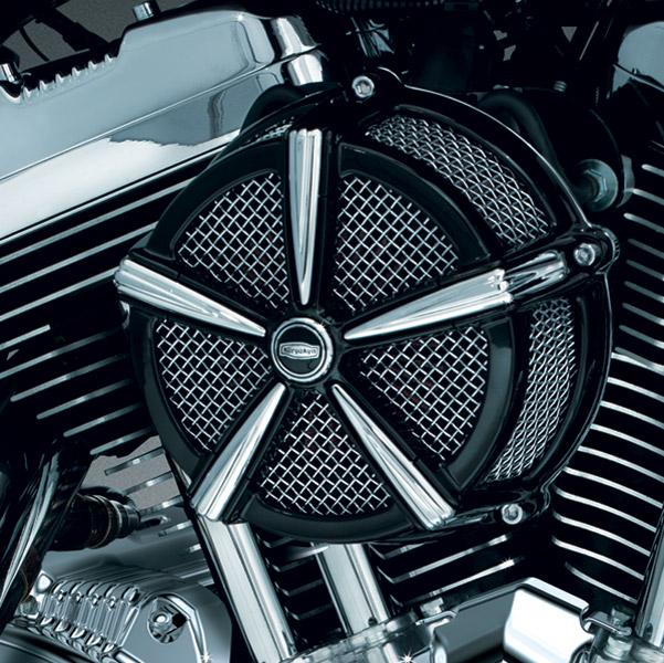 Chrome Flame Air Filter Cleaner Cover Insert For Harley Davidson Models Intake