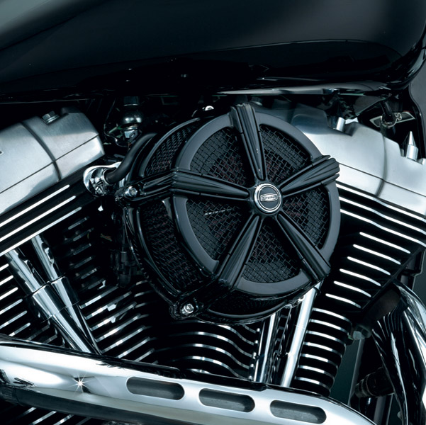 Kuryakyn Mach 2 Black Air Cleaner for Custom Applications