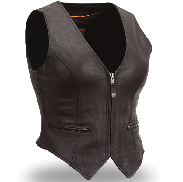 First Manufacturing Co. Women's Form Fitting Leather Vest