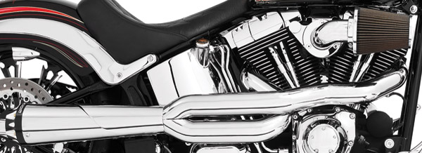 Freedom Performance Exhaust American Outlaw High 2-Into-1 Chrome Exhaust