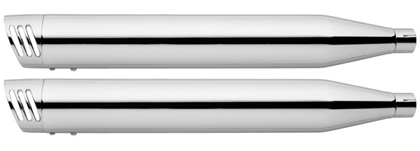 Freedom Performance Exhaust 3-1/4″ Racing Slip-Ons Chrome with Chrome End Caps