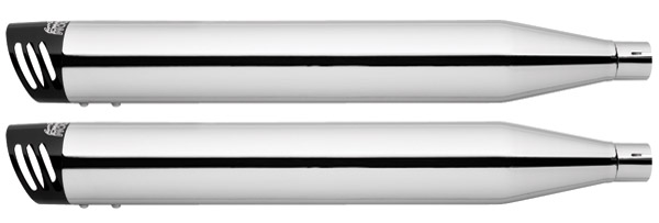 Freedom Performance Exhaust 3-1/4″ Racing Slip-Ons Chrome with Black End Caps