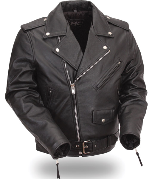 FMC Men's Tall Classic MC Leather Jacket