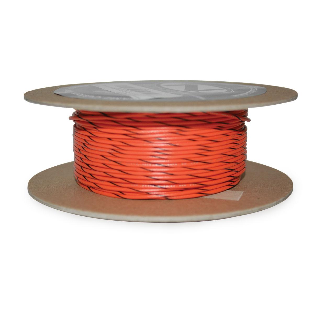 NAMZ Custom Cycle Orange/Black 18-Gauge Wire