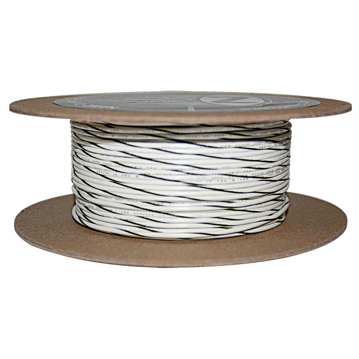NAMZ Custom Cycle White/Black 18-Gauge Wire