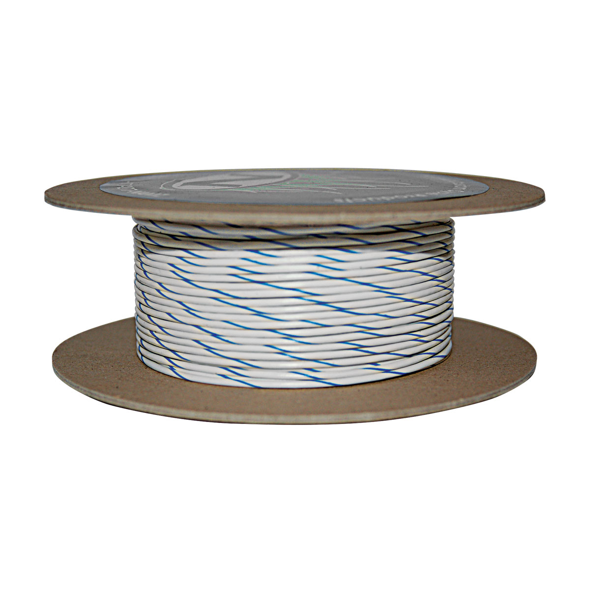 NAMZ Custom Cycle White/Blue 18-Gauge Wire - NWR-96-100