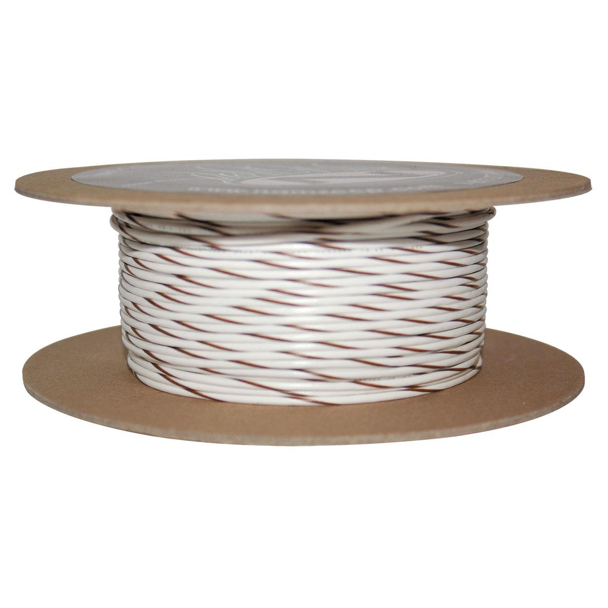 NAMZ Custom Cycle White/Brown 18-Gauge Wire