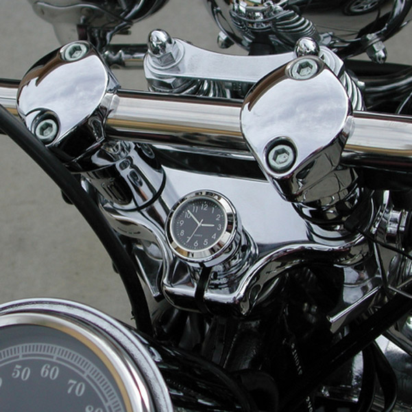 Riders Passion Black Harley Springer Stem Nut Clock