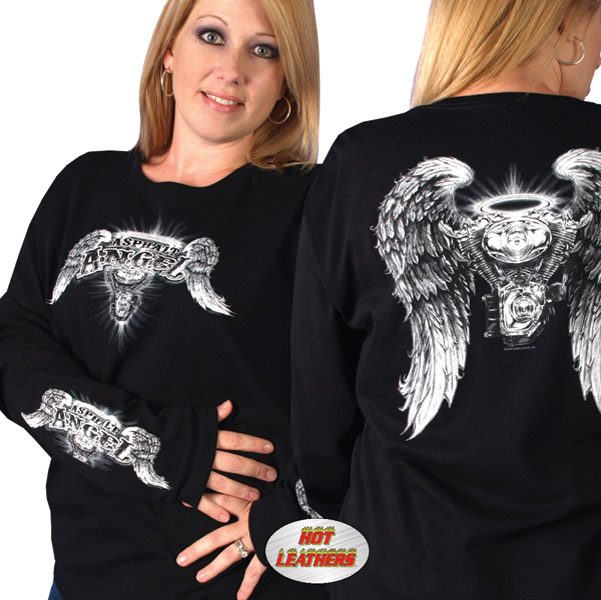 Hot Leathers Asphalt Angel T-shirt
