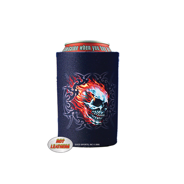 Flaming Skull Can Koozie