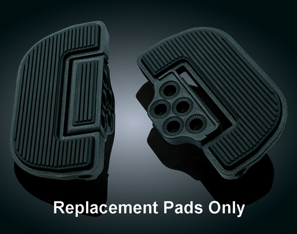 Replacement Ribbed Rubber Pads for Kuryakyn Splined Floorboards