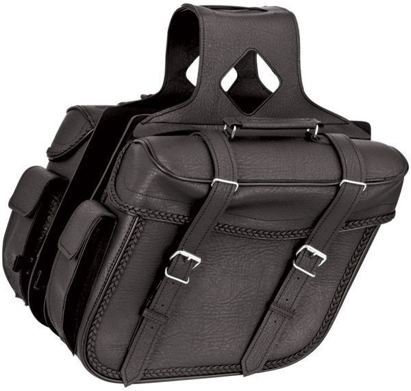 River Road Quantum Series Slant Large Braided Saddlebags