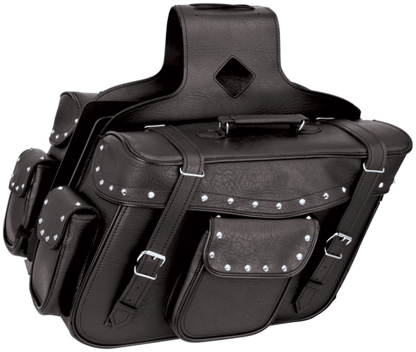 River Road Momentum Series X-Large Studded Saddlebags