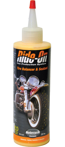 Ride-On Motorcycle Tire Balancer and Sealant