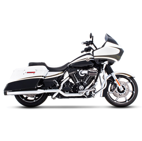 Rinehart Racing Xtreme True Duals 4″ Mufflers Chrome w/ Black End Caps