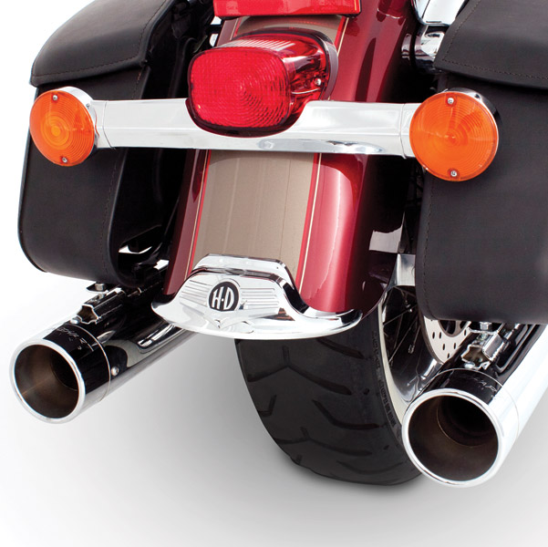 Rinehart Racing Classic Duals Chrome Exhaust System w/ Chrome End Caps