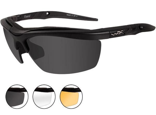 8fbdc6db98e Wiley X Guard Matte Black Frame Changeable Sunglasses - 4006 ...