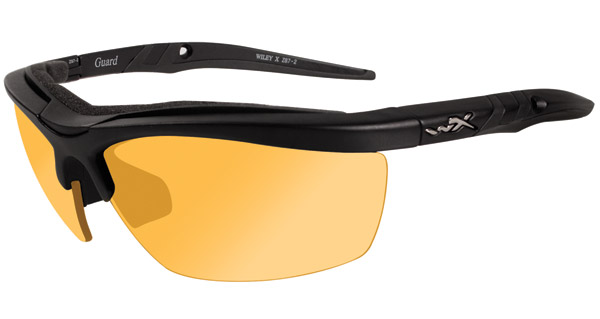 Wiley X Guard Matte Black Frame Changeable Sunglasses