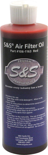 S&S Cycle Red Air Filter Oil