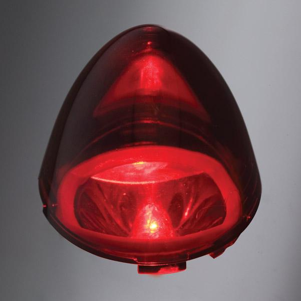 Motor City Cycle 60mm Bullet Red Chromed Lenses For Rear