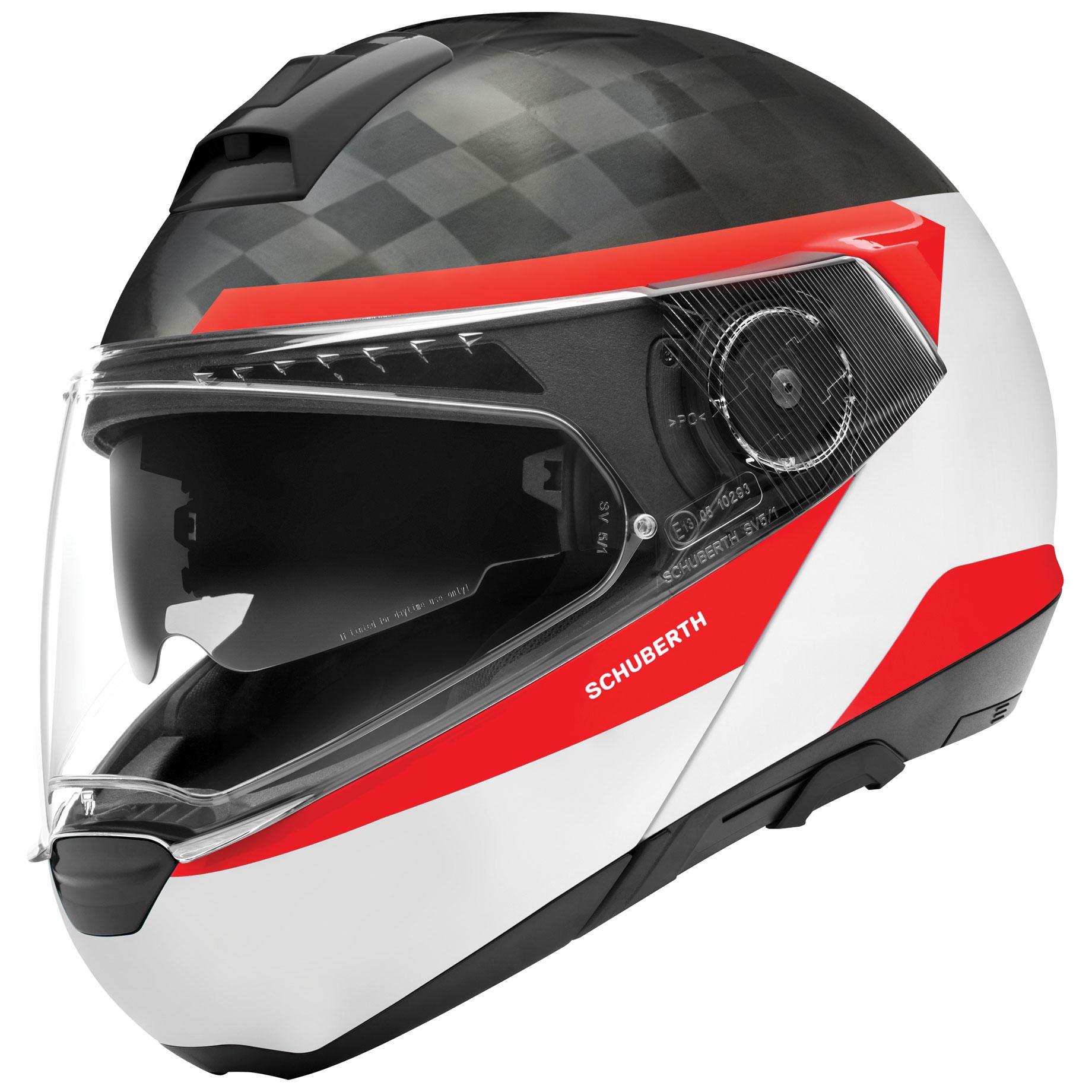 Schuberth C4 Pro Carbon Delta White Modular Helmet