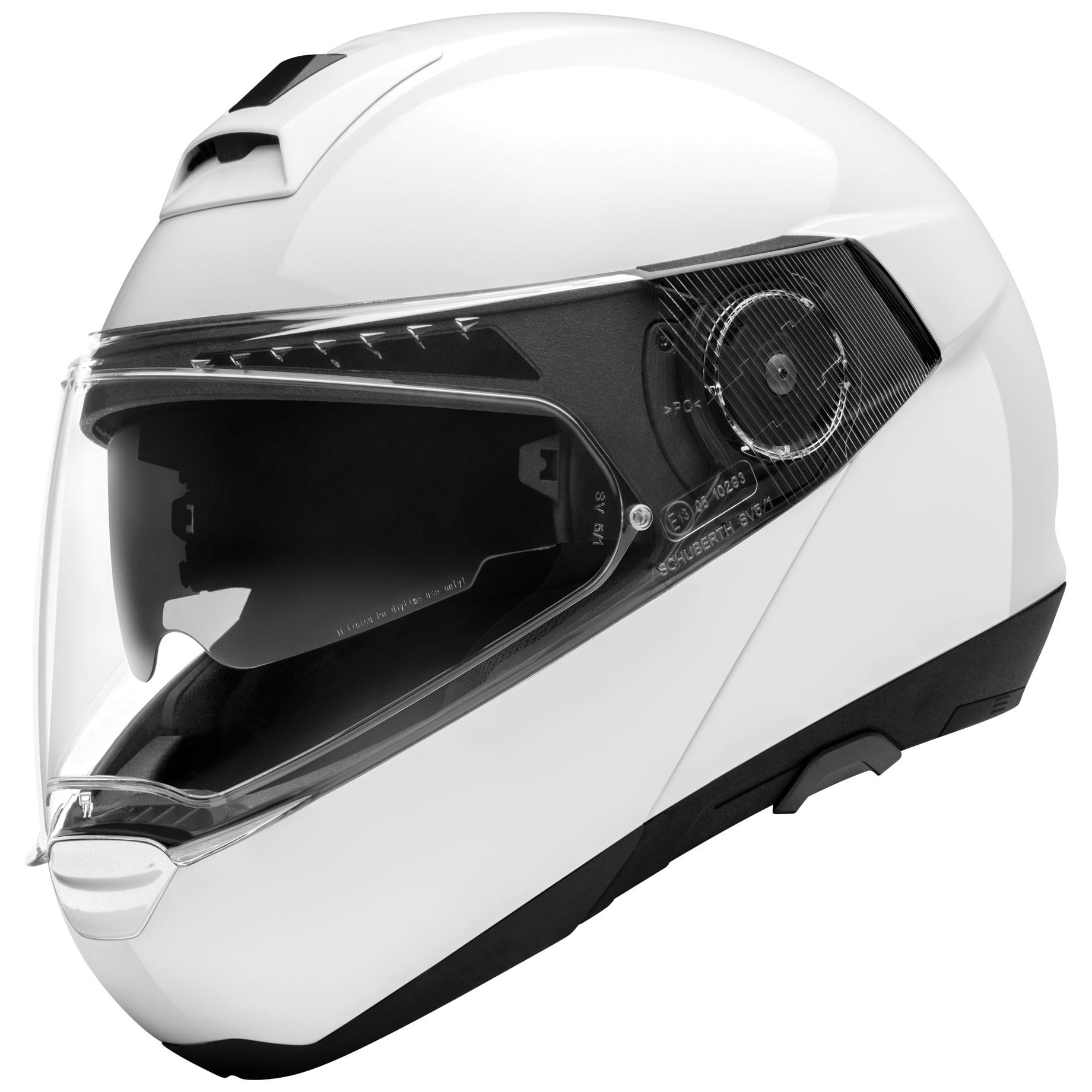Schuberth C4 Pro Gloss White Modular Helmet