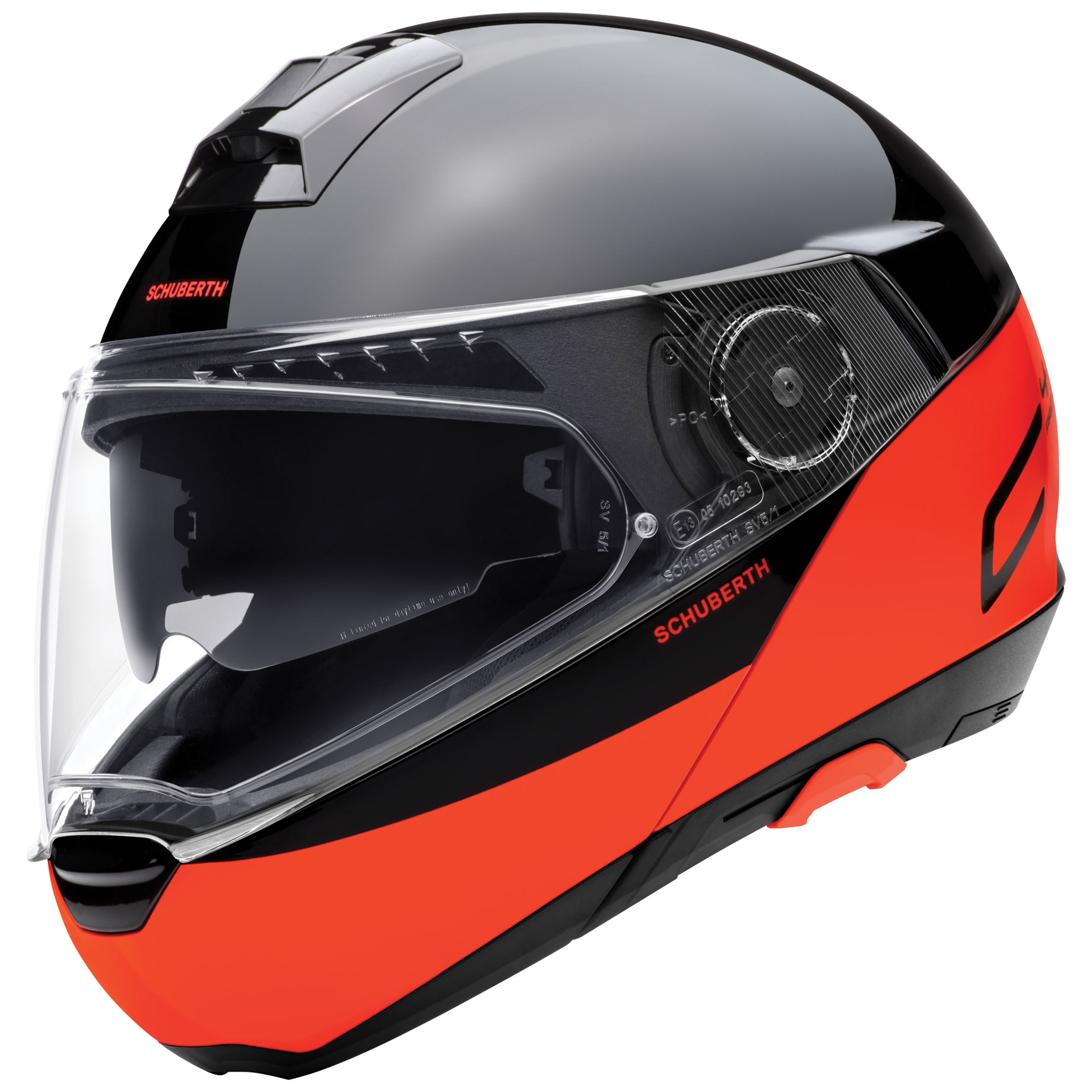 Schuberth C4 Pro Swipe Orange Modular Helmet