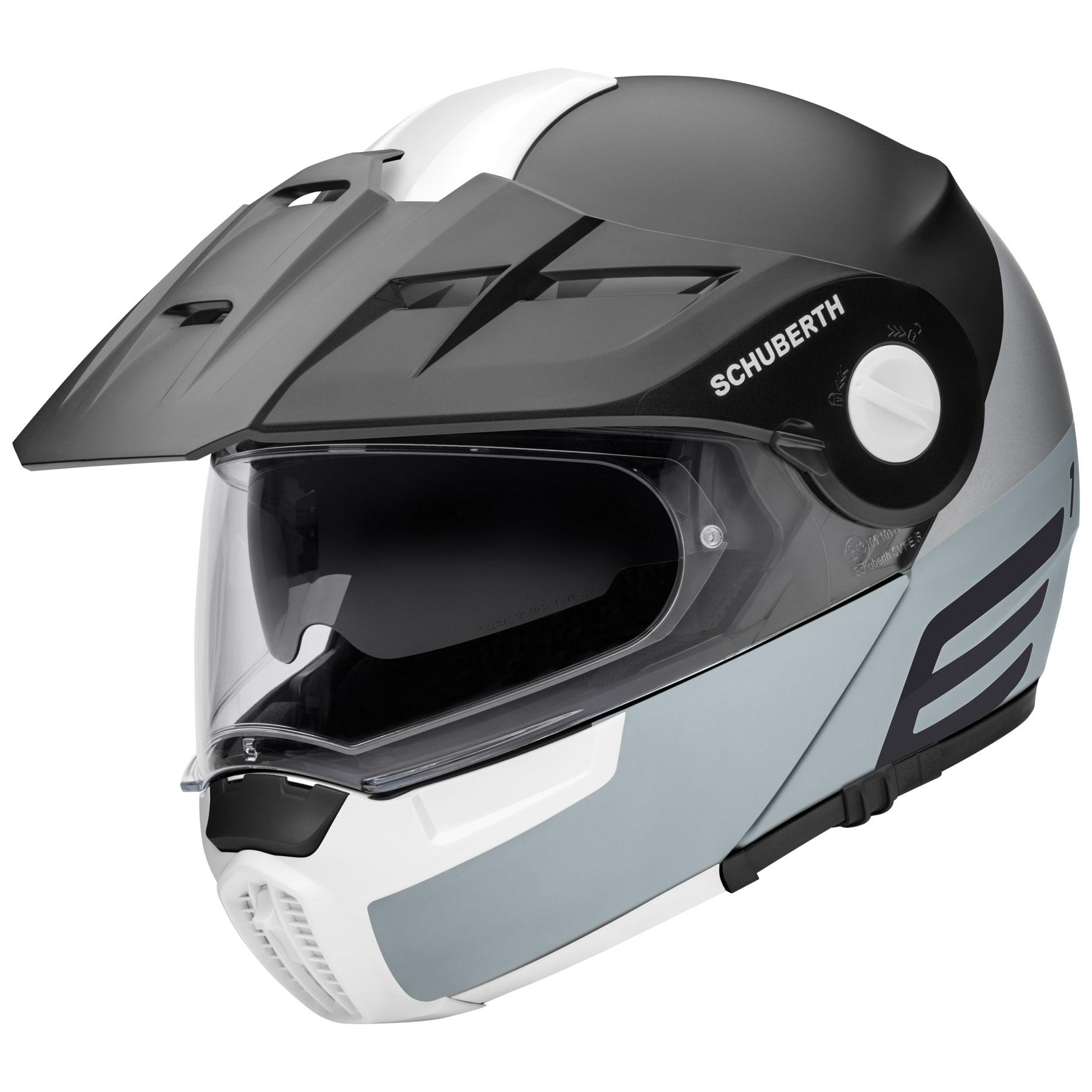 Schuberth E1 Cut Gray Modular Helmet