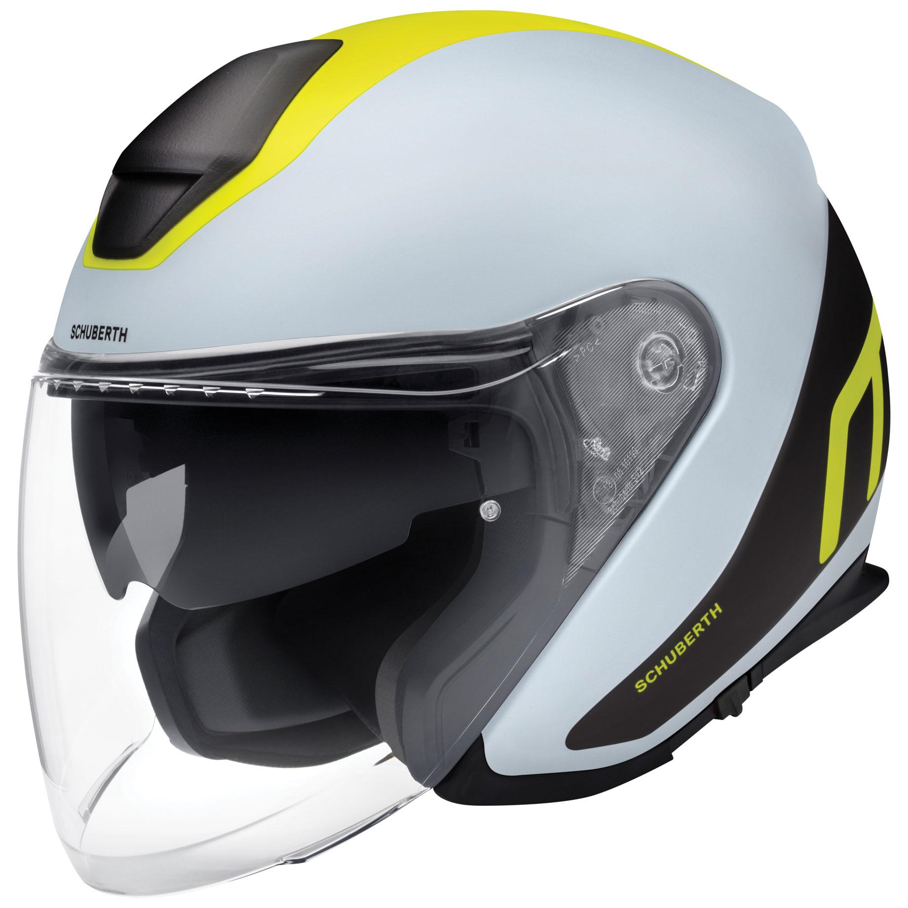 9914b89d Schuberth M1 Pro Triple Yellow Open Face Helmet - 4759243360 ...